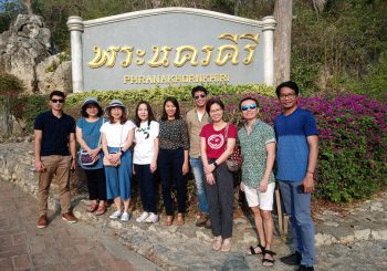 Cultural trip in Phetchaburi province on 23 February 2020.